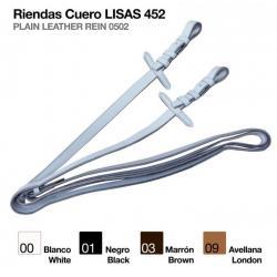 RIENDAS CUERO LISAS 452