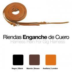 ENGANCHE RIENDAS CUERO SUELTAS