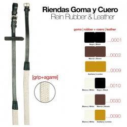 RIENDAS GOMA  CUERO 312