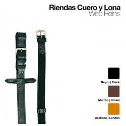 RIENDAS CUERO LONA 301
