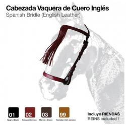 Cabezada Vaquera Cuero Inglés