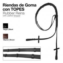 RIENDAS GOMA CUERO CON TOPES