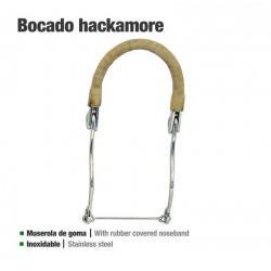 Bocado Hackamore Inox Goma...