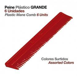 Peine Plástico Grande 6uds