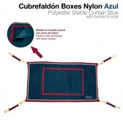 CUBREFALDÓN BOXES NYLÓN AZUL