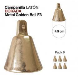 Campanilla Latón Dorado 6...