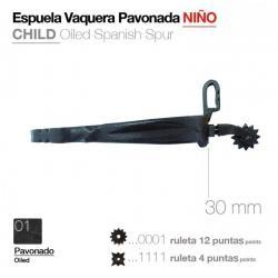 Espuela Vaquera Pavonado Niño