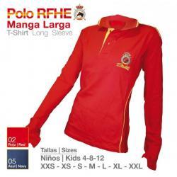 Camisa Polo Rfhe Manga Larga