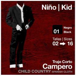 Traje Corto Campero Niño...