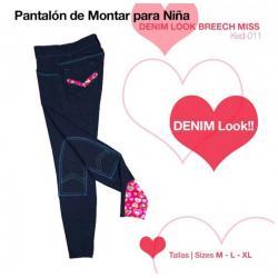 PANTALÓN MONTAR NIÑA DENIM...