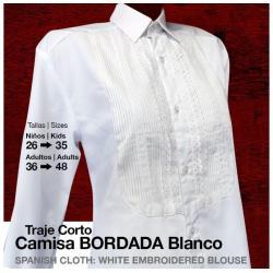 Traje Corto Camisa Bordada...