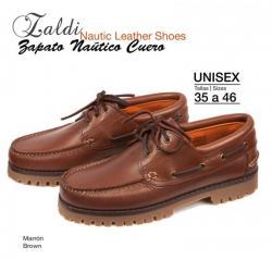 Zapato Naútico Cuero Zaldi...