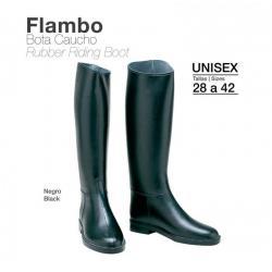 Bota Caucho Flambo Eco. Negro
