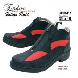 Botina Raid Endur Negro/rojo
