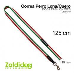 Perro Correa Lona/cuero...