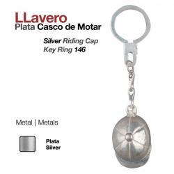 Llavero -plata- Casco...