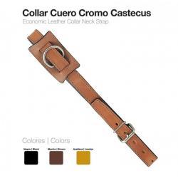 Collar Cuero Cromo Castecus