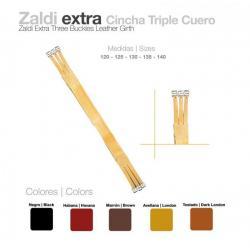 Cincha Triple Cuero Zaldi...